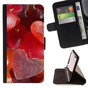 BullDog Case - FOR/LG OPTIMUS L90 / - / Love Sugar Heart /- Monedero de cuero de la PU Llevar cubierta de la caja con el ID Credit Card Slots Flip funda de cuer