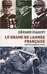 Le drame de l'armée française par Chauvy
