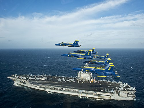 Navy Poster US Navy Blue Angels Aircraft Carrier