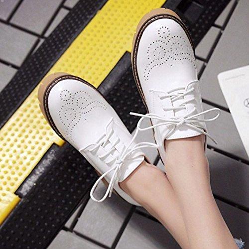 White Mujer Zapatos Brogue Zanpa Casual RqSxv
