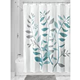 Teal and Gray Shower Curtain InterDesign Laurel Shower Curtain, Standard, Gray and Blue