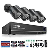 SANNCE HD 1080N 8CH Security DVR Recorder + 4 x 720P Surveillance Camera System, Day Night Vision, IR-Cut, Motion Detected, Email Alert, IP66 Weatherproof - No HDD