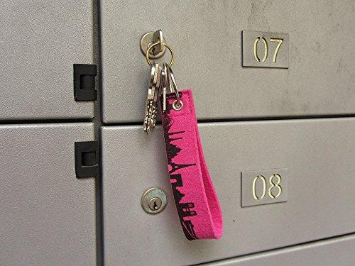 Llavero Candy para Rosa 44 Estambul sentido llaves Skyline espacios Amarilla en colores muchos Handgearbeitet 5OggqPZ