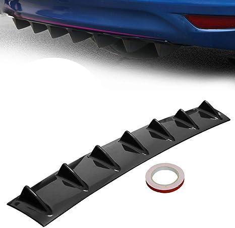 Diffuseur de l/èvre de pare-chocs arri/ère de voiture universelle 6 Aileron de style daileron de requin Style de voiture