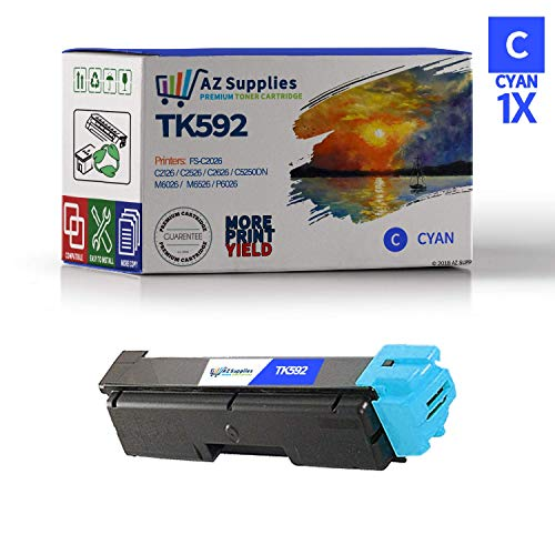 AZ Compatible Toner Cartridge Replacement for Kyocera TK592-1 Cyan