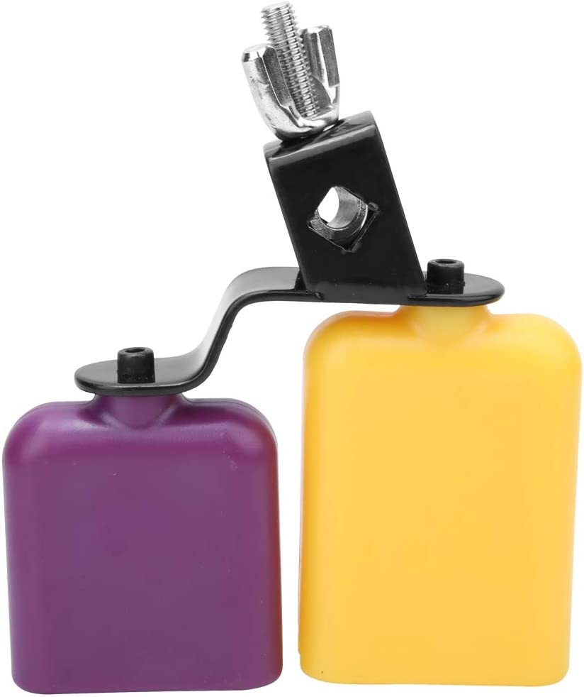 CB30 Yellow /& Purple Cowbell Cow Bell Wooden Fish Cattle Bell for Cheers Sport Games Wedding Cow Bell Drums Percussion Instruments