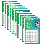 MiniPLOT Graph Paper Pads: 10 pads of 3x3 inch adhesive backed XY axis coordinate grid paper. 50 sheets per pad. Grid = 20 x 20 squares. Use for homework, taking notes in class, tests & more