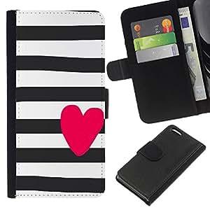 A-type (Pink Valentines Sailor Stripes Grey) Colorida Impresión Funda Cuero Monedero Caja Bolsa Cubierta Caja Piel Card Slots Para Apple iPhone 5C