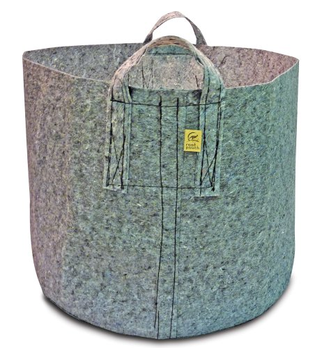 Root Pouch Grey Breathable Pot with Handles, 150-Gallon