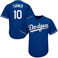 AFDLT Mens MLB #10 Turner Baseball fan Jersey,Vrouwen Zomer Rugby Training T-Shirts,Outdoor Sport Ademend Korte mouw