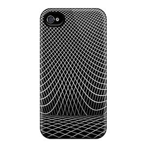 MeSusges Rjgpdqk7460ouTSz Case For Iphone 4/4s With Nice Wireframe Illusion Appearance