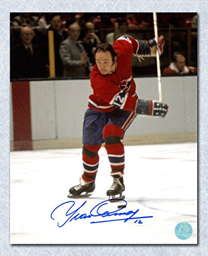 35be9a86e27 Yvan Cournoyer Montreal Canadiens Autographed Slapshot 8x10 Photo at ...