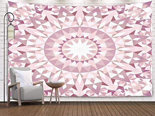 Shorping Art Tapestries, 80x60Inches Hanging Wall Tapestry for Décor Living Room Dorm Abstract Triangle Mosaic Kaleidoscope Pattern Wallpaper Geometrical Background Graphic Design