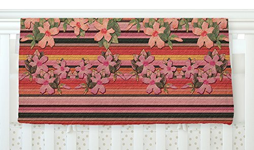 KESS InHouse Nina May Peach Hibiscus Stripe Pink Orange Fleece Baby Blanket 40 x 30 [並行輸入品]   B077Z2DXML