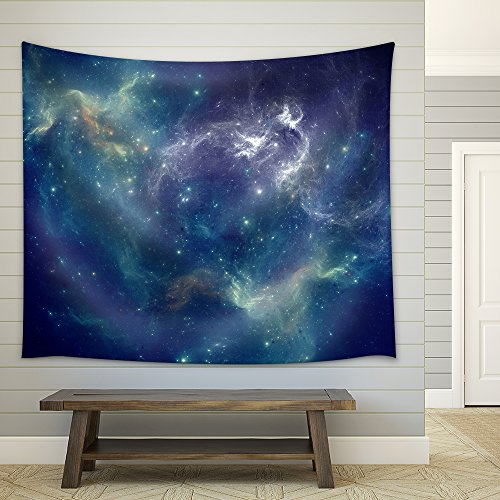 Colorful Space Nebula Fabric Wall