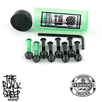 """Thunder Allen Black//Green 1/"""" Skateboard Skate Deck Bolts//Hardware"""