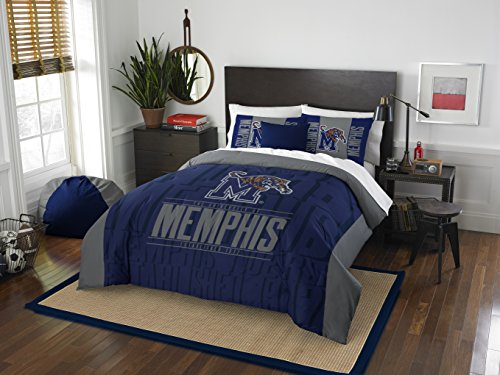 The Northwest Company Officially Licensed NCAA Memphis Tigers Modern Take Full/Queen Comforter and 2 Sham Set