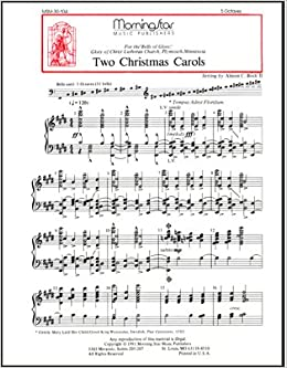 Christmas Music Sheets.Two Christmas Carols Handbells Sheet Music Almon C Bock