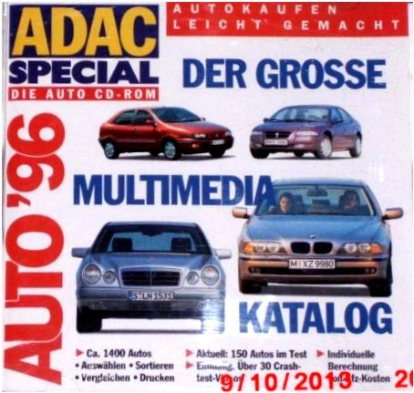 Cd Rom Adac Special Auto 96 1996 Amazon De Software