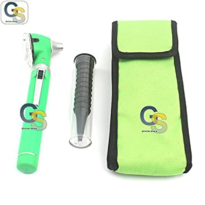 G.s Green Fiber Optic Otoscope Mini Pocket Ent Diagnostic Set Best Quality