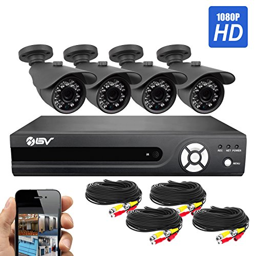 Best Vision Systems 8 Channel High Definition 1080N DVR Security Surveillance System with 1TB Hard Drive Installed and 4 x 1080P AHD Night Vision Indoor/Outdoor Bullet Cameras