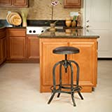 Christopher Knight Home 295043 Silla Barstool, Brown and Steel