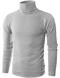 Mens Slim Fit Soft Cotton Blend Turtleneck Pullover Sweater