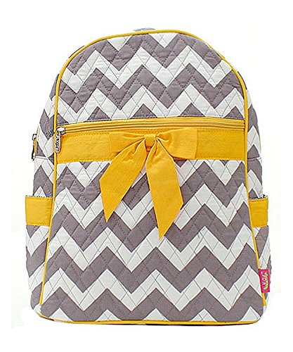 Accent with Handbag Chevron Stripe Quilted Gray Backpack Bow nRq7wYwH