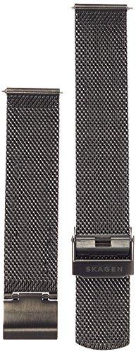 Skagen 18mm Stainless Steel Mesh Watch Strap, Color: Grey-tone (Model: SKB6073) (18mm Mesh Watch Band)