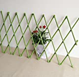 Best Garden Tools 30X135cm Garden Decoration Fencing PVC Coated Bamboo Fence Tensile Waterproof Garden Trellis