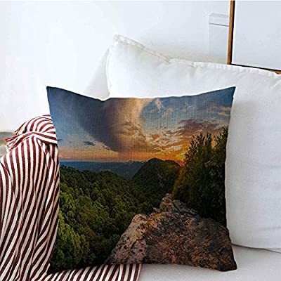 Throw Pillow Covers Clouds Appalachian Storm Mountains Kentucky Virginia Inspiring State Line Awe Nature Parks Outdoor Linen Square Pillow Cuhsion Covers Case for Couch Car 18x18 Inch