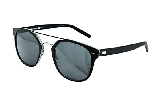 2cbf0d2557d81 Image Unavailable. Image not available for. Color  Dior Homme AL13.5 KI2  Black AL13.5 Round Sunglasses ...