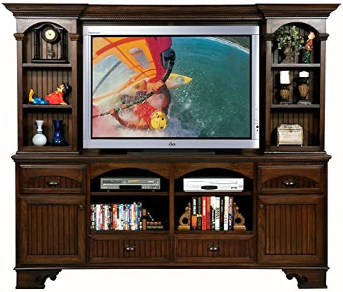 Eagle Furniture Manufacturing American Premiere Entertainment Console and Hutch with 60 Opening, 90 , Concord Cherry
