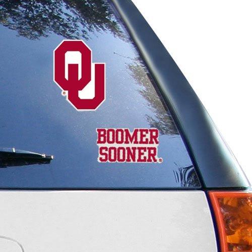 NCAA Oklahoma Sooners 2-Pack 4'' x 4'' Die-Cut Decals