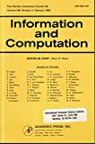 img - for Information and Computation - February 1983 (Volume 102, Number 2) book / textbook / text book