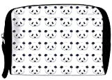 Snoogg Cute panda black and white pattern Travel Buddy Toiletry Bag / Bag Organizer / Vanity Pouch
