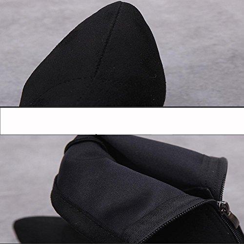 En las choque tubo de de Mujeres Botas Cremallera Moda de botas Después Abajo Botas black Resistente Pegamento Caucho Absorción al cortas Nuevo Impermeable desgaste Antideslizante manual qEwAYxYt