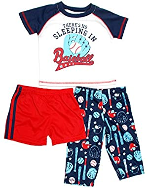 just one you made by Carter's 3 piece pajama set There's No Sleeping In Baseball