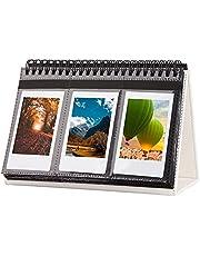 96 Pockets Desk Calendar Album for Fujifilm Instax Mini Camera, Polaroid Camera, for Instax Mini 11 90 70 9 8+ 8 LiPlay Camera, Polaroid Snap Z2300 Instant Cameras, for Home Office Desk Decor (White)