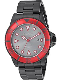 Men's 'Pro Diver' Quartz Stainless Steel Casual Watch, Color:Black (Model: 90296)