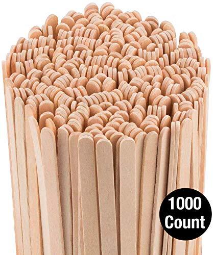 Coffee Stirrers Sticks, Natural Birch Wood 1000 Count, 5.5