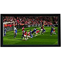 Sima XL-110-VX 110 HDTV Format Fixed Frame Screen, Black