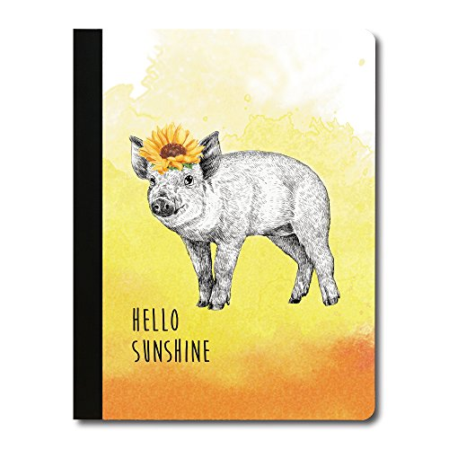Tree-Free Greetings Boho Pig Soft Cover 140 Page Tree-Free Composition Book, 9.75 x 7.25 Inches - Soft Pigs
