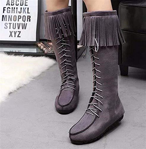 Shoes Autunno Lace Eu Nappe Inverno Ups 's Boots Zipper Deed Flat 38 E Donne Bottom wqzp6YAx