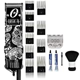 OSTER Professional Classic 76 Universal Motor Clipper Limited Edition - Skulls with 10 Comb Guide Set & Large Neck Duster