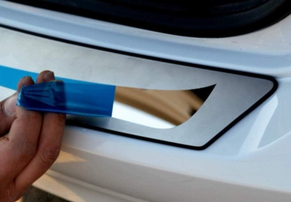 Gemmry Acier Inoxydable Protecteurs de Pare-Chocs arri/ère de Voiture pour Volkswagen Polo 2011-2018,Couvercle De Garniture De Plaque De Seuil De Panneau De Marchepied De Coffre Accessoires