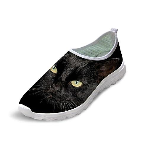 7dae0f8f8602f Showudesigns Cute Print Animal Mesh Walking Shoes Breathable Women Running  Shoes