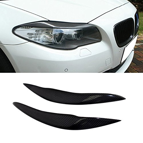 (Sport Real Carbon Fiber Headlight Eye Lid Cover for 5 Series F10 F11)