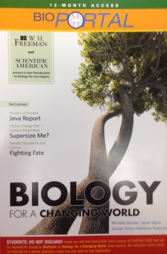 BioPortal for Scientific American Biology for a Changing Word (Access Card)