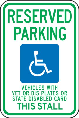 Accuform FRA215RA Engineer-Grade Reflective Aluminum Handicapped Parking Sign (Wisconsin), Legend